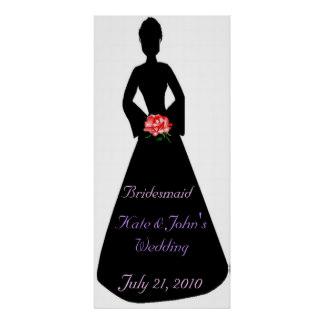 324x324 Bridal Silhouette Posters Zazzle