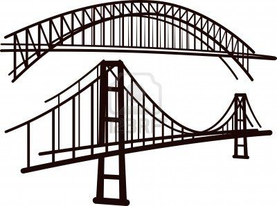 Bridge Clipart Black And White