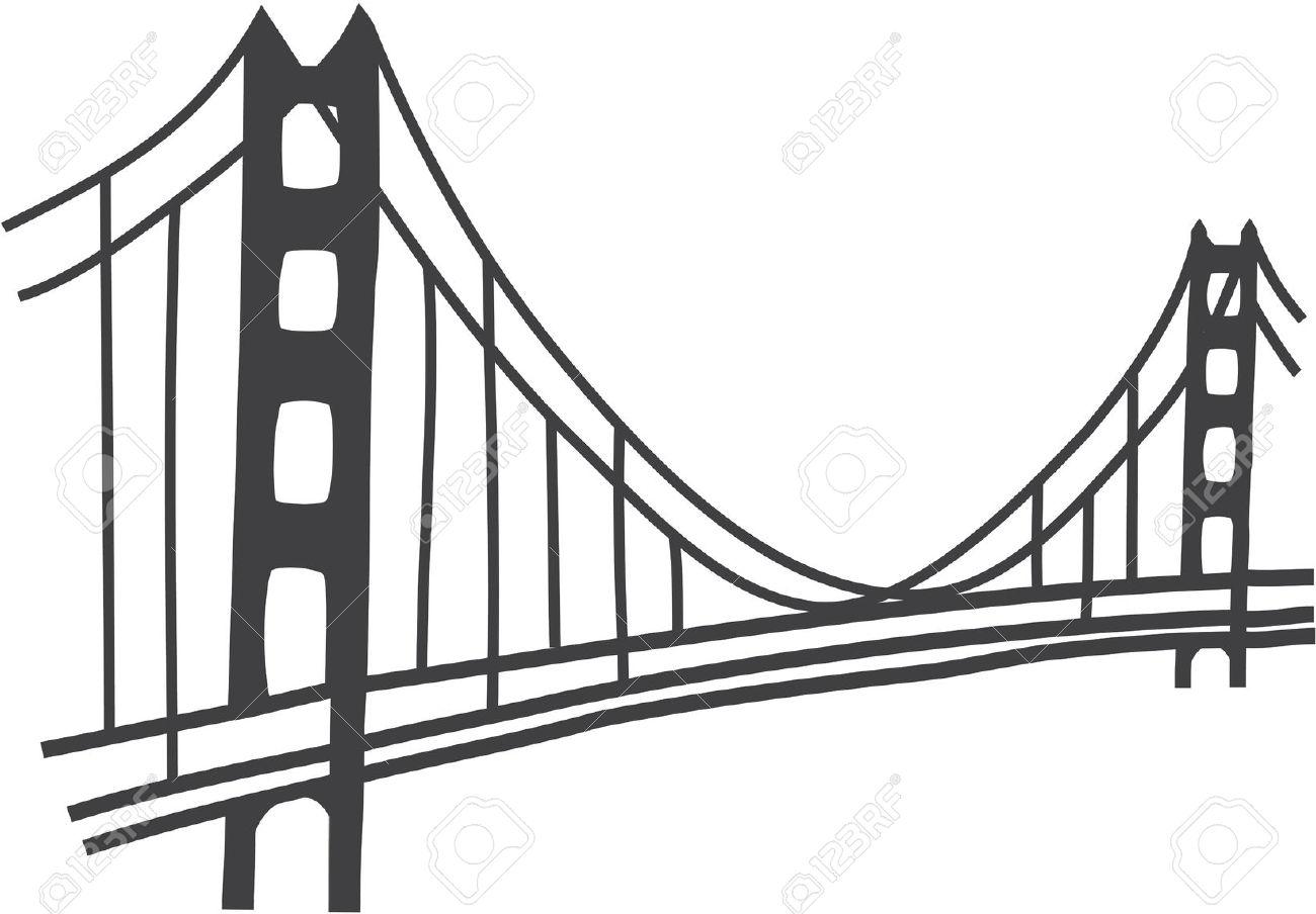 1300x904 Bridge Clipart San Francisco Bridge