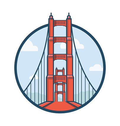 405x426 Golden Gate Bridge Vector Icon Premium Clipart