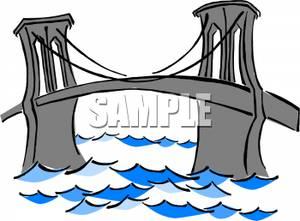 300x221 Gray Bridge Over A Large River