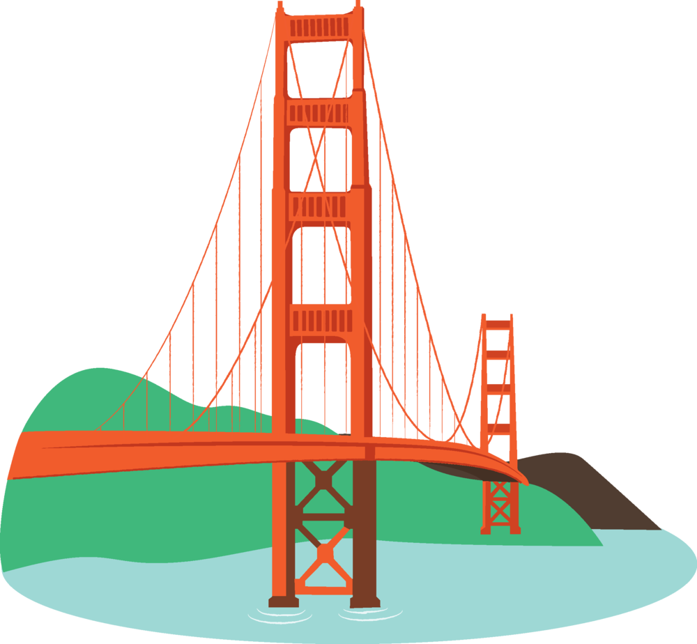 1000x924 Image Of Bridges Clipart 0 Golden Gate Bridge Clipart Rare