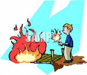 300x258 Man Burning A Bridge