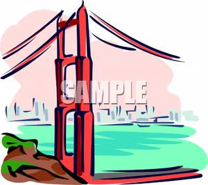300x267 Art Image The Golden Gate Bridge In San Francisco, California
