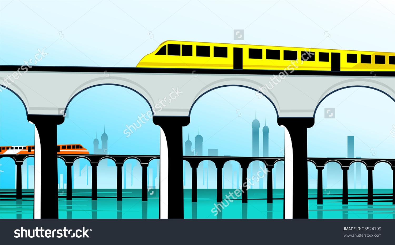 1500x933 Model Railway Bridge Clipart