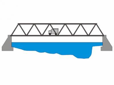 400x300 Truss Bridge Clip Art Cliparts