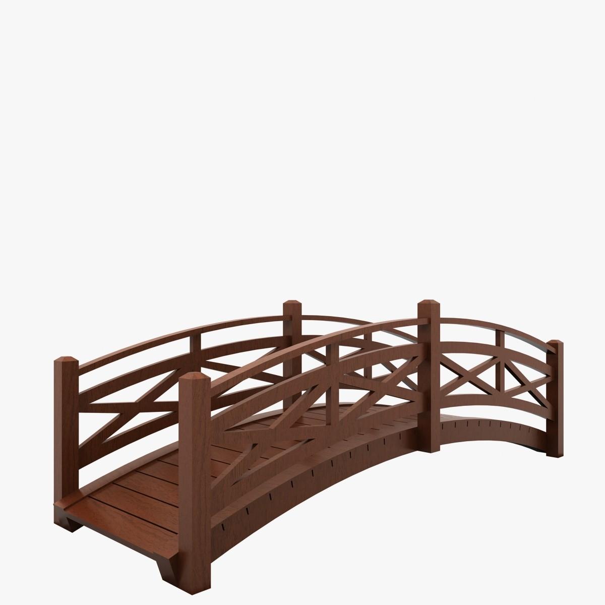 1200x1200 Wood Bridge Clipart