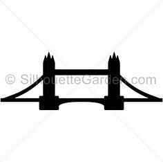 236x234 Bridge Silhouette Clipart