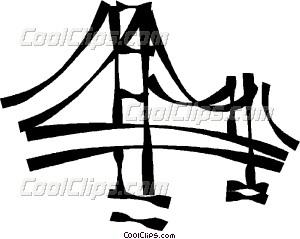 300x239 Bridges Vector Clip Art