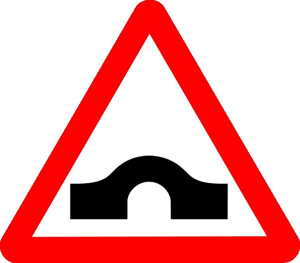 600x527 Bridge Road Sign Clip Art