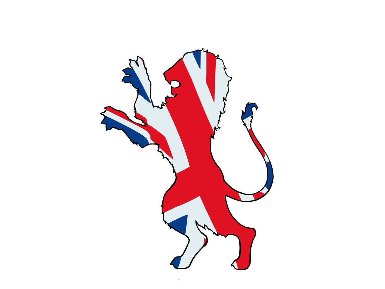 1280x960 Lion With British Flag Tattoo Design 3d British