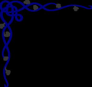 299x282 Cobalt Border Script Version Clip Art
