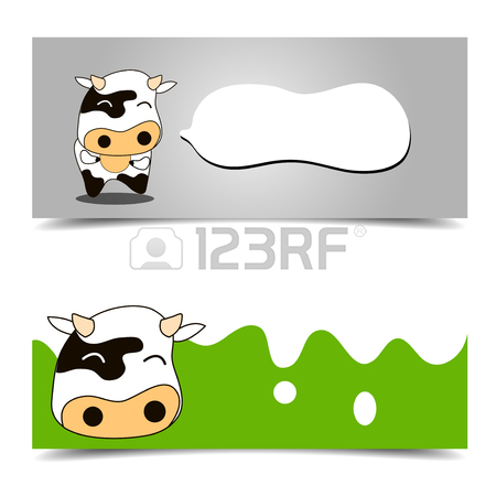 450x450 Cow Card Brochure Template Royalty Free Cliparts, Vectors,