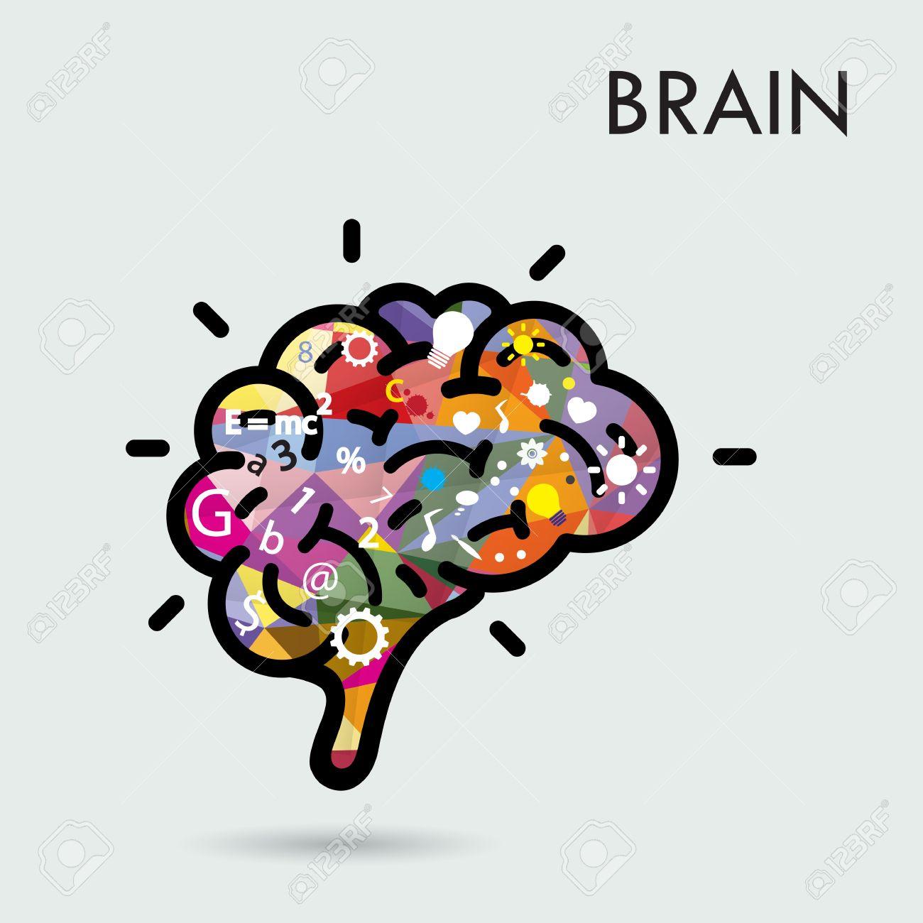 1300x1300 Creative Brain Idea Concept, Design For Poster Flyer Cover