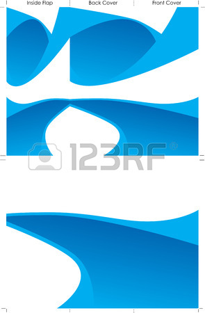 295x450 Trifold Brochure Background Blue Royalty Free Cliparts, Vectors