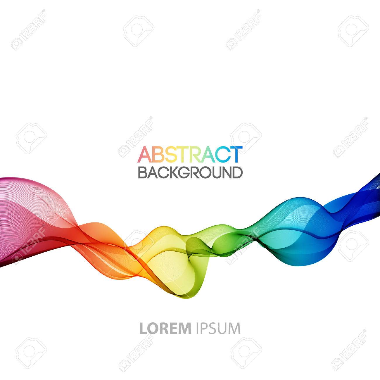 1300x1300 Vector Abstract Smoky Waves Background. Template Brochure Design