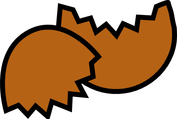 600x403 Brown Egg Shell Clip Art