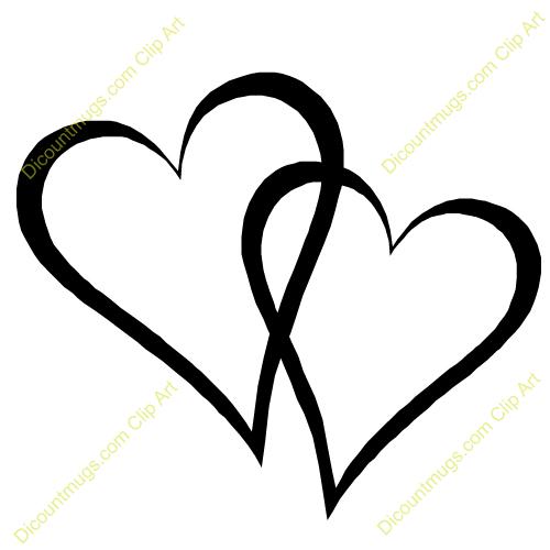 500x500 Broken Heart Clipart Double Heart Wedding