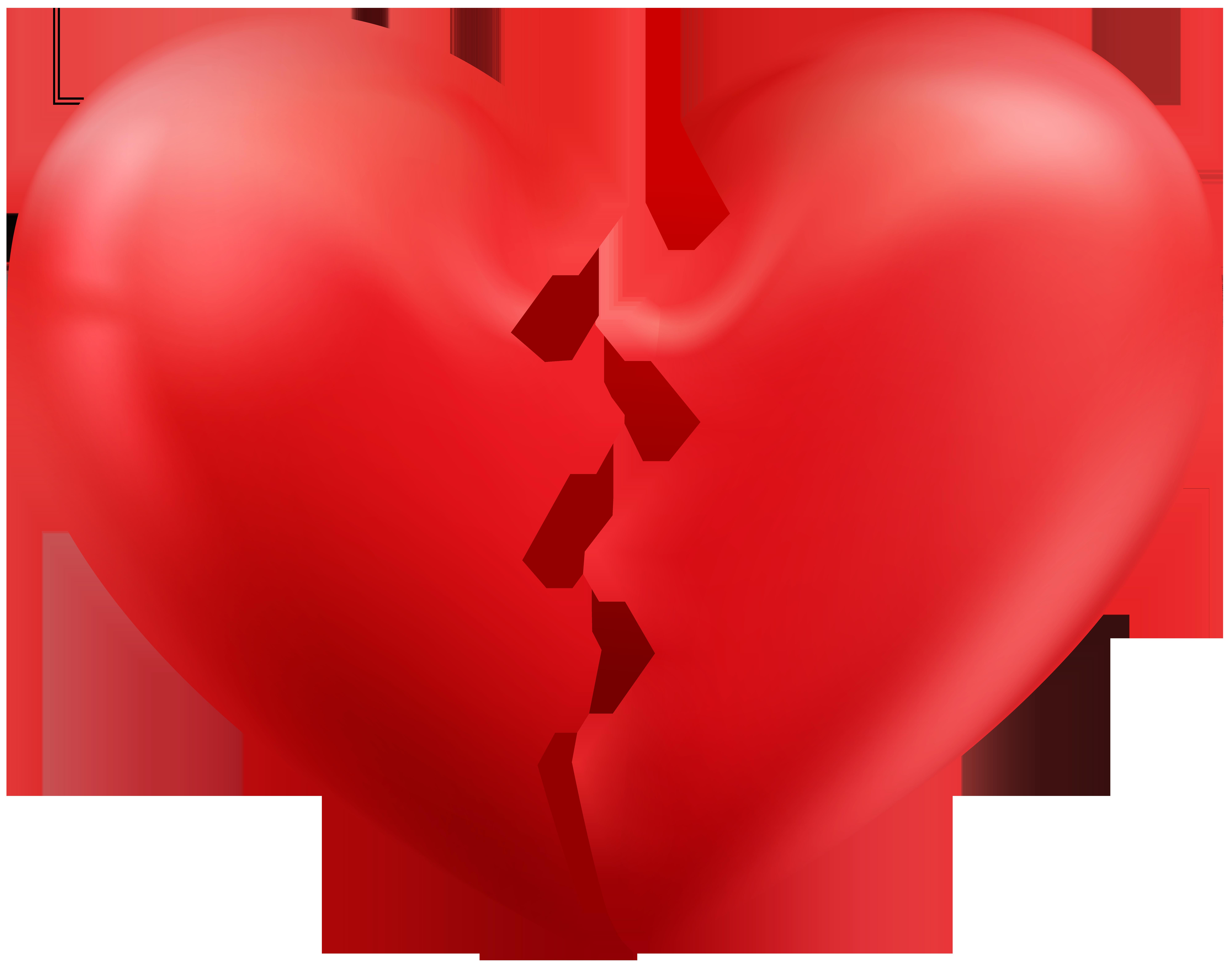 8000x6328 Broken Heart Clipart Transparent