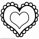 125x125 Best Hd Heart Clipart Black And White Drawing