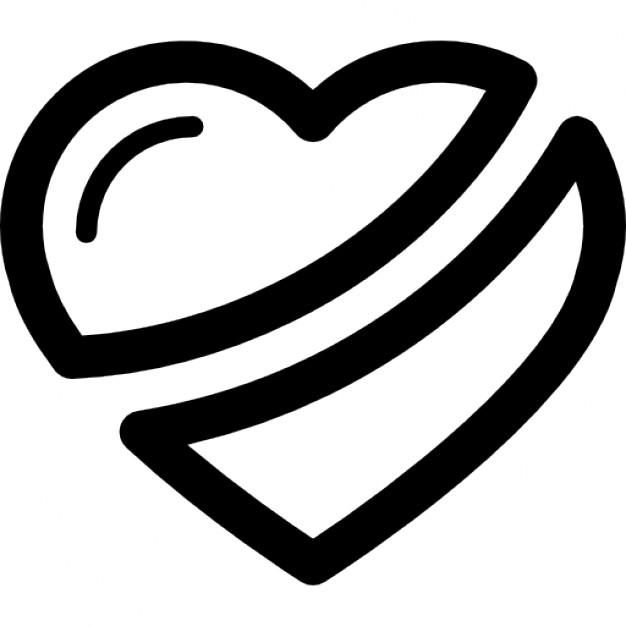 626x626 Broken Heart Clipart Outline