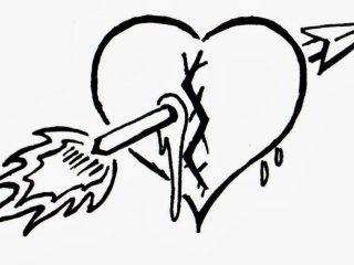 320x240 Broken Heart Coloring Pages Broken Heart Coloring Page Clip Art