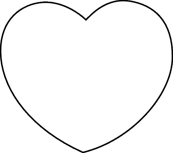 600x529 Heart White Clip Art
