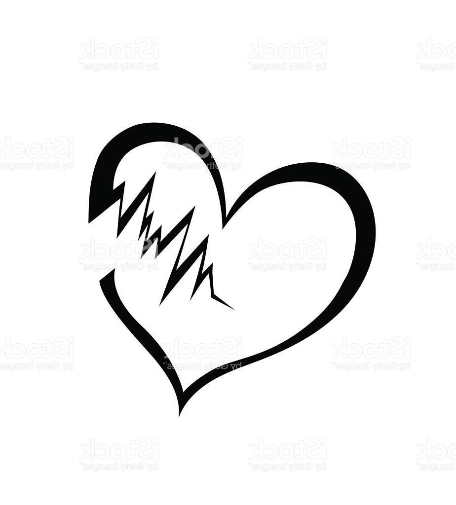 924x1024 Broken Heart Clipart Black And White