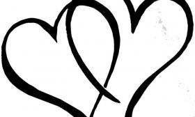 280x168 Broken Heart Clipart Double Heart Wedding