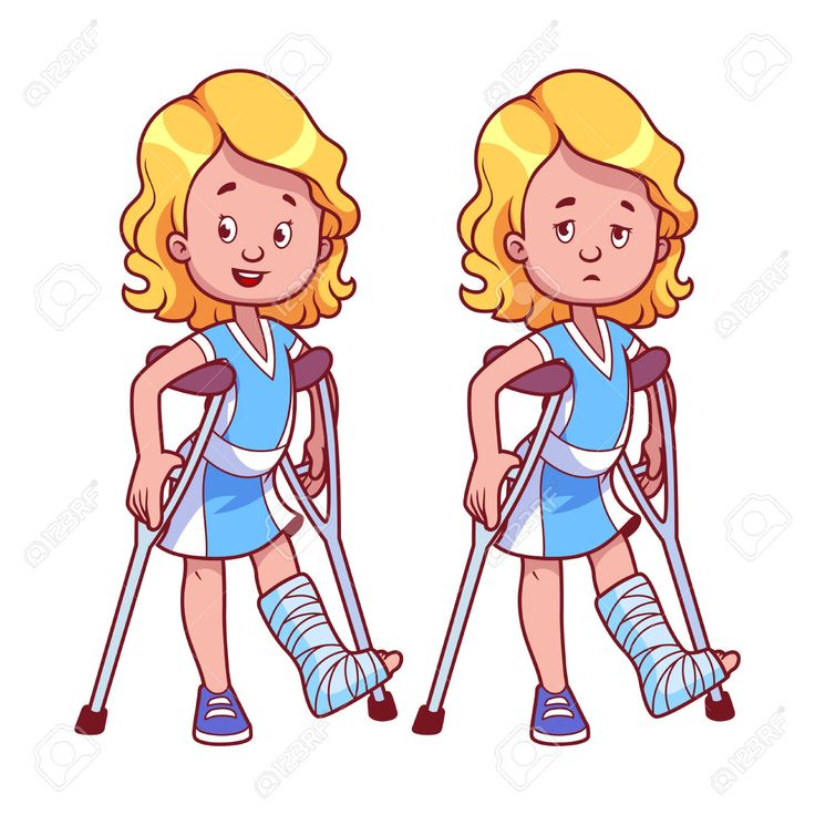Broken Leg Cartoon Clipart