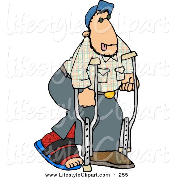 600x620 Funny Broken Leg Clipart