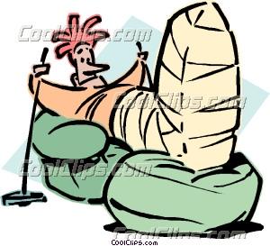 300x273 Man With Broken Leg Clip Art