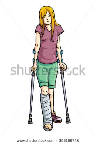 315x470 Broken Leg Cartoon Clipart