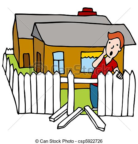 450x470 Fence Clipart Broken Fence