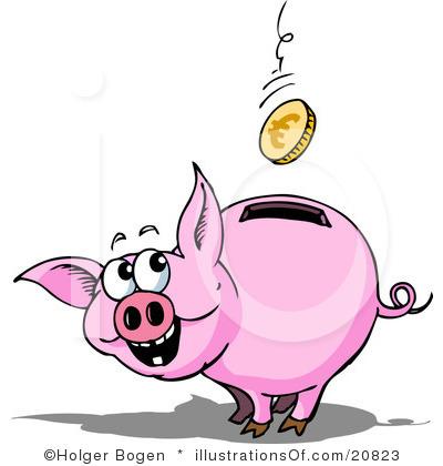 400x420 Free Piggy Bank Clipart