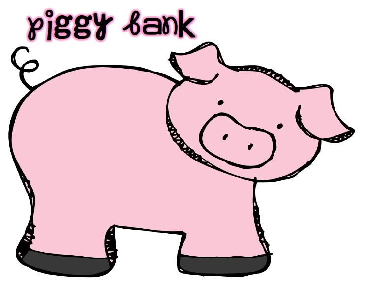 742x589 Pix For Clipart Cute Piggy Bank
