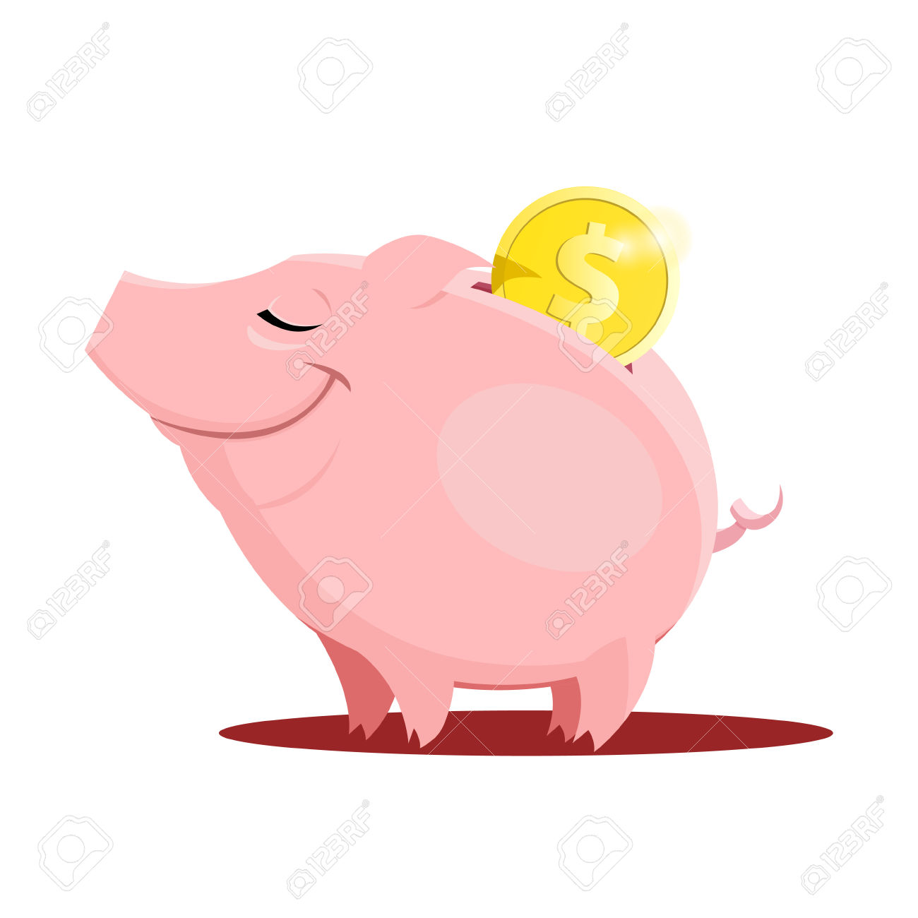 1300x1300 Smashed Open Piggy Bank Clipart