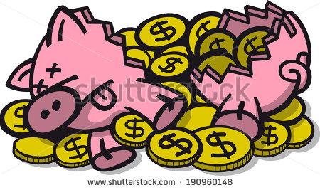 450x267 Broken Piggy Bank Clipart Clipart Panda