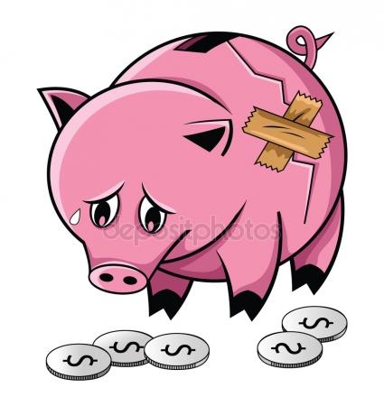 425x450 Broken Piggy Bank Stock Vectors, Royalty Free Broken Piggy Bank