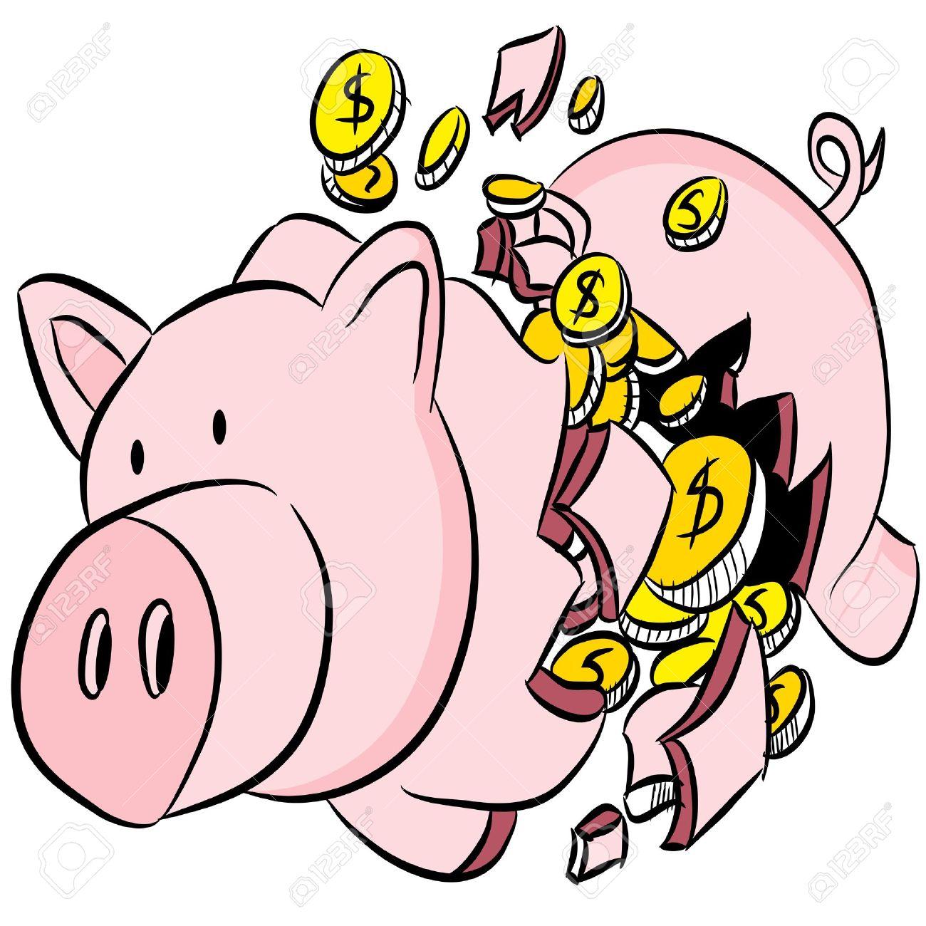 1300x1300 Car Shaped Piggy Bank Clipart
