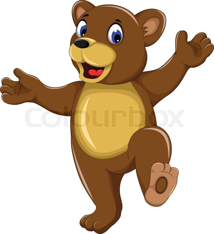 Bear happy. Brown bears clipart free
