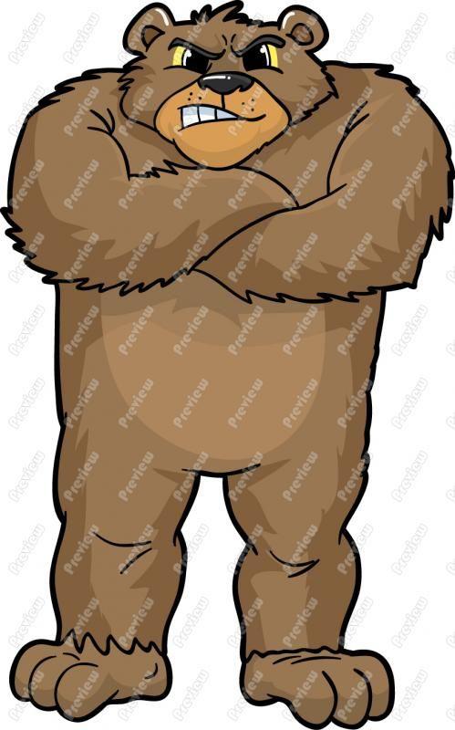 499x800 Brown Bear Clipart Mean