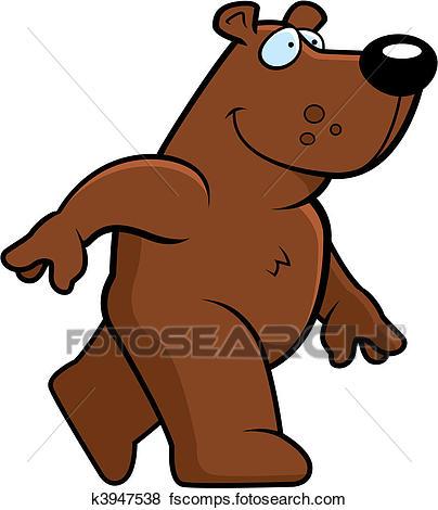 404x470 Clip Art Of Bear Walking K3947538
