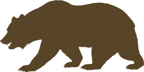 500x250 Vector Clip Art Of Bear From The Flag Of California Public