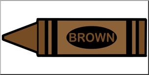 304x154 Clip Art Crayon Brown Color I Abcteach
