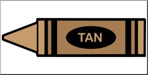 304x154 Clip Art Crayon Tan Color I Abcteach