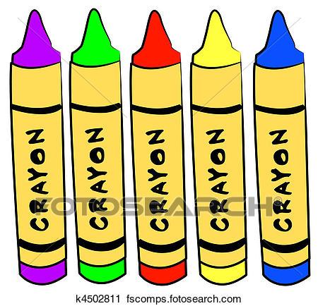 450x434 Clip Art Of Preschool Crayons K6867762