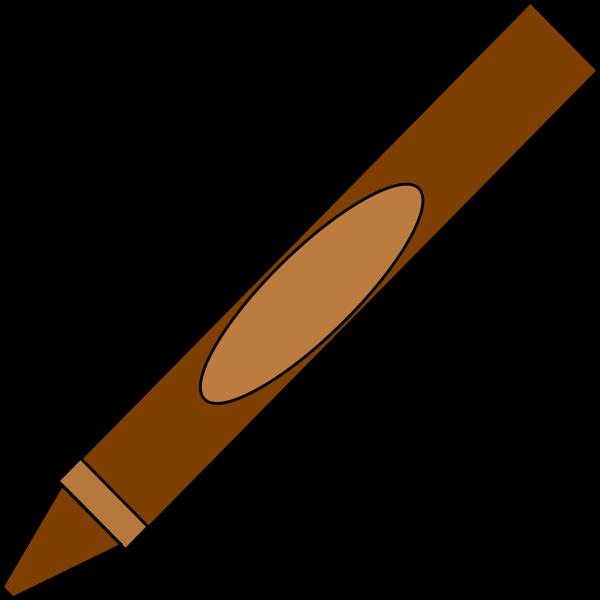 600x600 Brown Crayon Clip Art