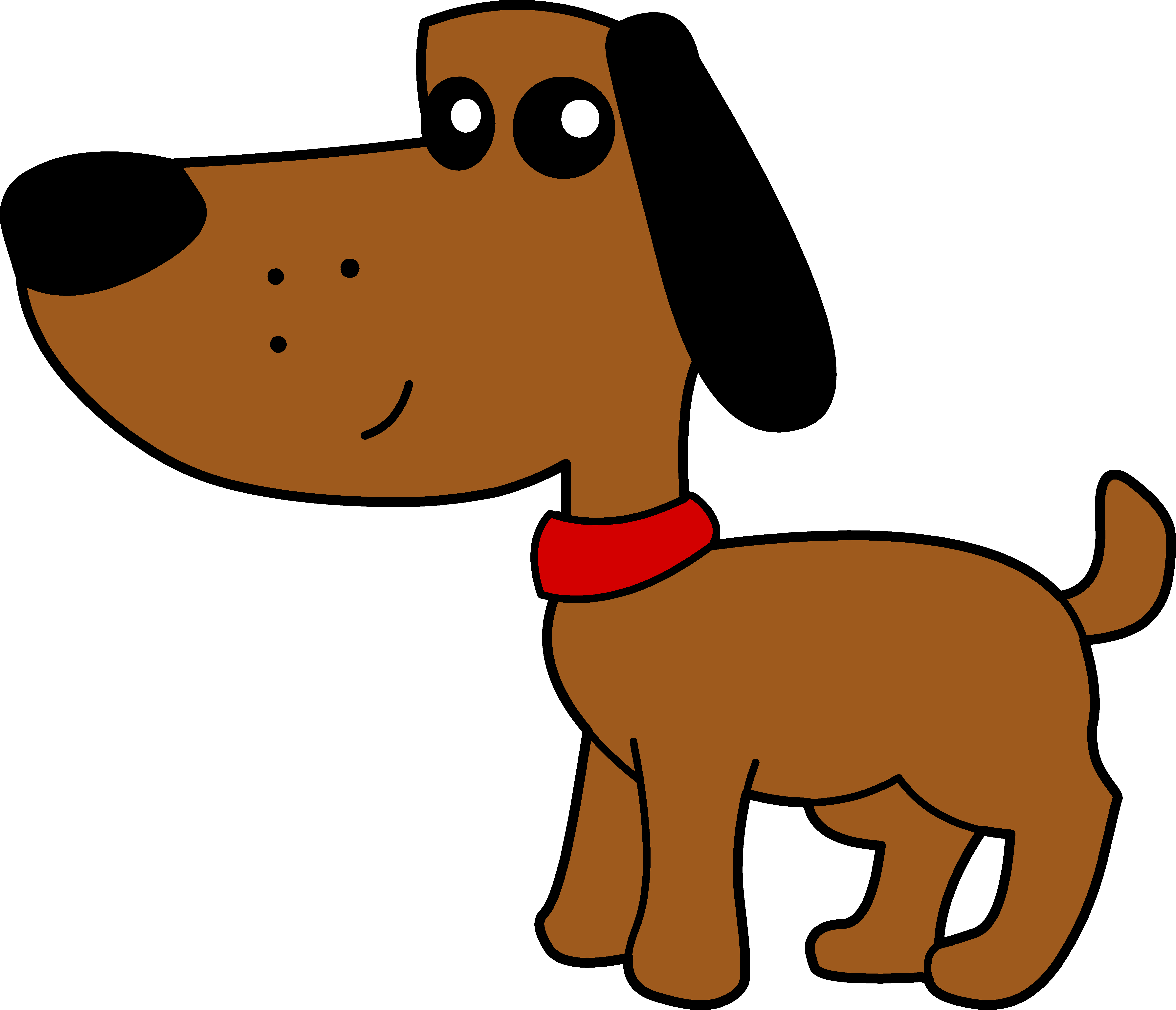 5933x5095 Cute Brown Dog With Red Collar