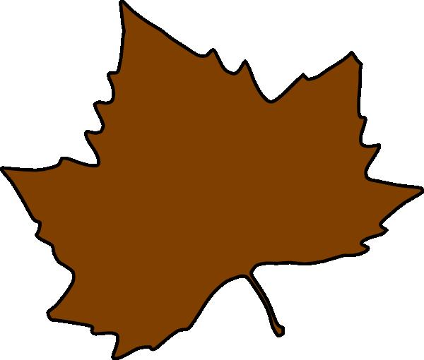 600x510 Brown Maple Leaf Clip Art